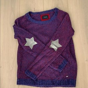 Sweaters - Star sweater, elbow pads